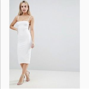 ASOS Petite Crepe Midi Dress Strappy Back